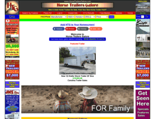 horsetrailersgalore.com screenshot