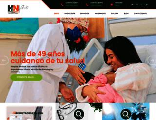 hospitalnacional.com screenshot