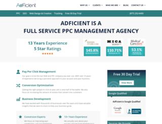 host.adficient.com screenshot