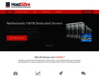 hostdzire.com screenshot