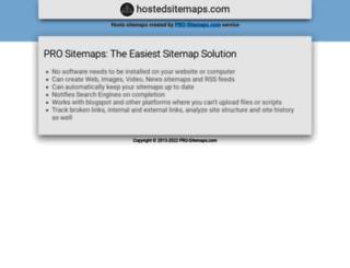 hostedsitemaps.com screenshot