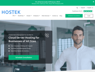 hostek.com screenshot