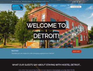 hosteldetroit.com screenshot