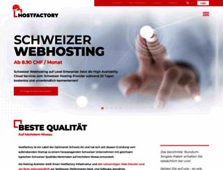 hostfactory.ch screenshot