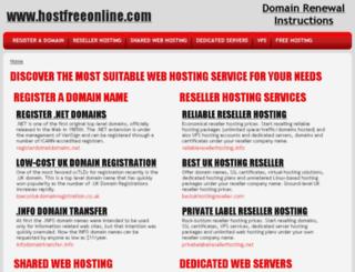 hostfreeonline.com screenshot