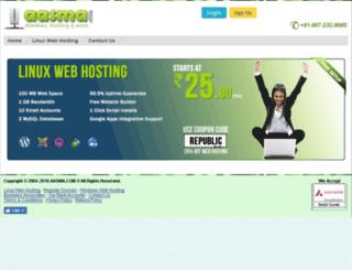 hosting.aasma.com screenshot