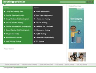 hostingpeople.in screenshot