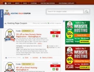 hostingraja-coupon.com screenshot