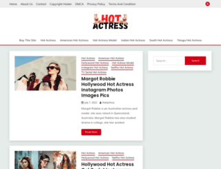 hotactress.in screenshot
