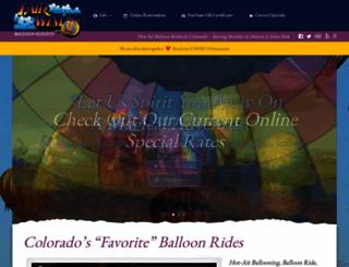 hotairballoonridescolorado.com screenshot