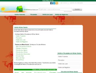 hoteisminasgerais.com screenshot