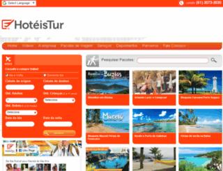 hoteistur.com.br screenshot