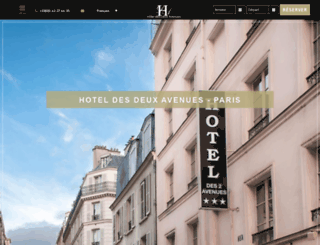 hotel-des-deux-avenues.com screenshot