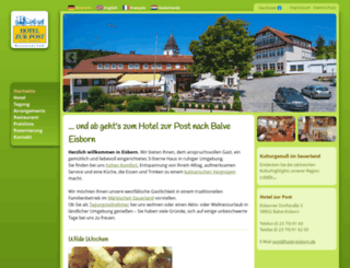 hotel-eisborn.de screenshot