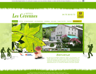 hotel-lescevennes.com screenshot