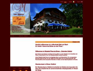 hotel-mairambach-brixen.it screenshot