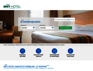 hotel-nantes-saint-herblain.brithotel.fr screenshot