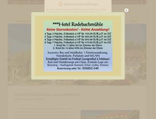 hotel-rodebachmuehle.de screenshot