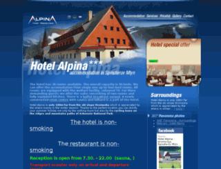 hotelalpina.cz screenshot