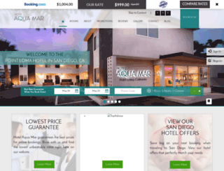 hotelaquamarsandiego.com screenshot