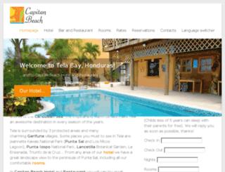 hotelcapitanbeach.com screenshot