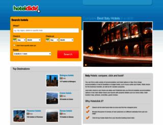 hotelclick.it screenshot
