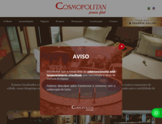 hotelcosmopolitan.com.br screenshot