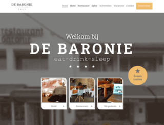 hoteldebaronie.nl screenshot