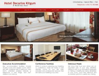 hoteldecarloskitgum.com screenshot