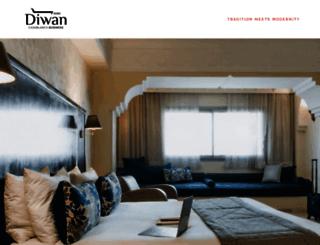 hoteldiwancasablanca.com screenshot