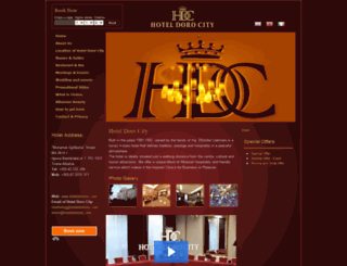 hoteldorocity.com screenshot