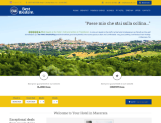 hotelicolli.com screenshot