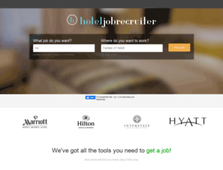 hoteljobrecruiter.com screenshot