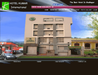 hotelkumarinternational.co.in screenshot