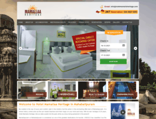 hotelmamallaheritage.com screenshot