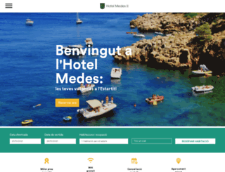 hotelmedes.com screenshot