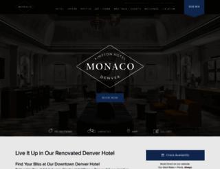 hotelmonacodenver.com screenshot