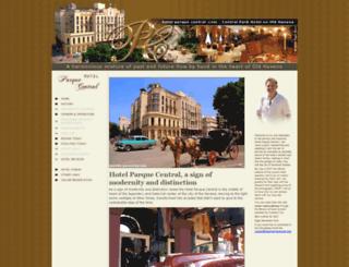 hotelparquecentral.com screenshot