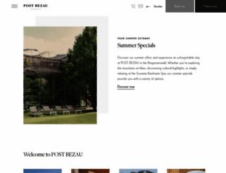 hotelpostbezau.com screenshot