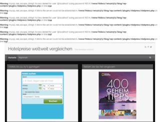 hotelpreise-weltweit.de screenshot