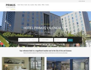 hotelprimusvalencia.com screenshot