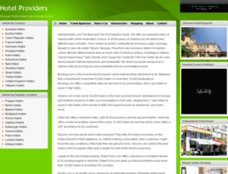 hotelproviders.com screenshot