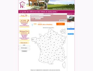 hotels-restaurants.fr screenshot