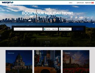 hotels.westjet.com screenshot