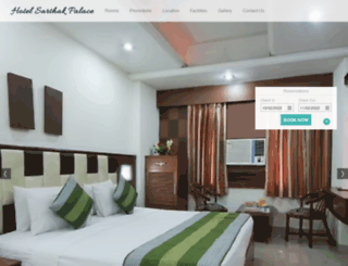 hotelsarthakpalace.com screenshot