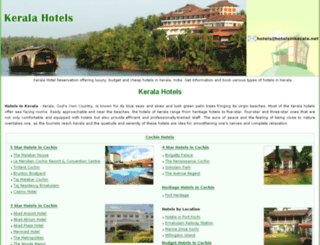 hotelsinkerala.net screenshot