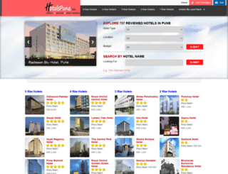 hotelspune.co.in screenshot