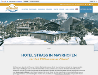 hotelstrass.com screenshot