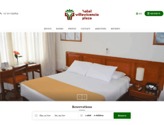 hotelvillavicencioplaza.com screenshot