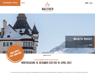 hotelwalther.ch screenshot